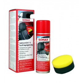 SONAX SOFT TOP & FABRIC WATER PROOF IMPREGNATION 300 ml - impregnat do dachów i tapicerki w kabrioletach